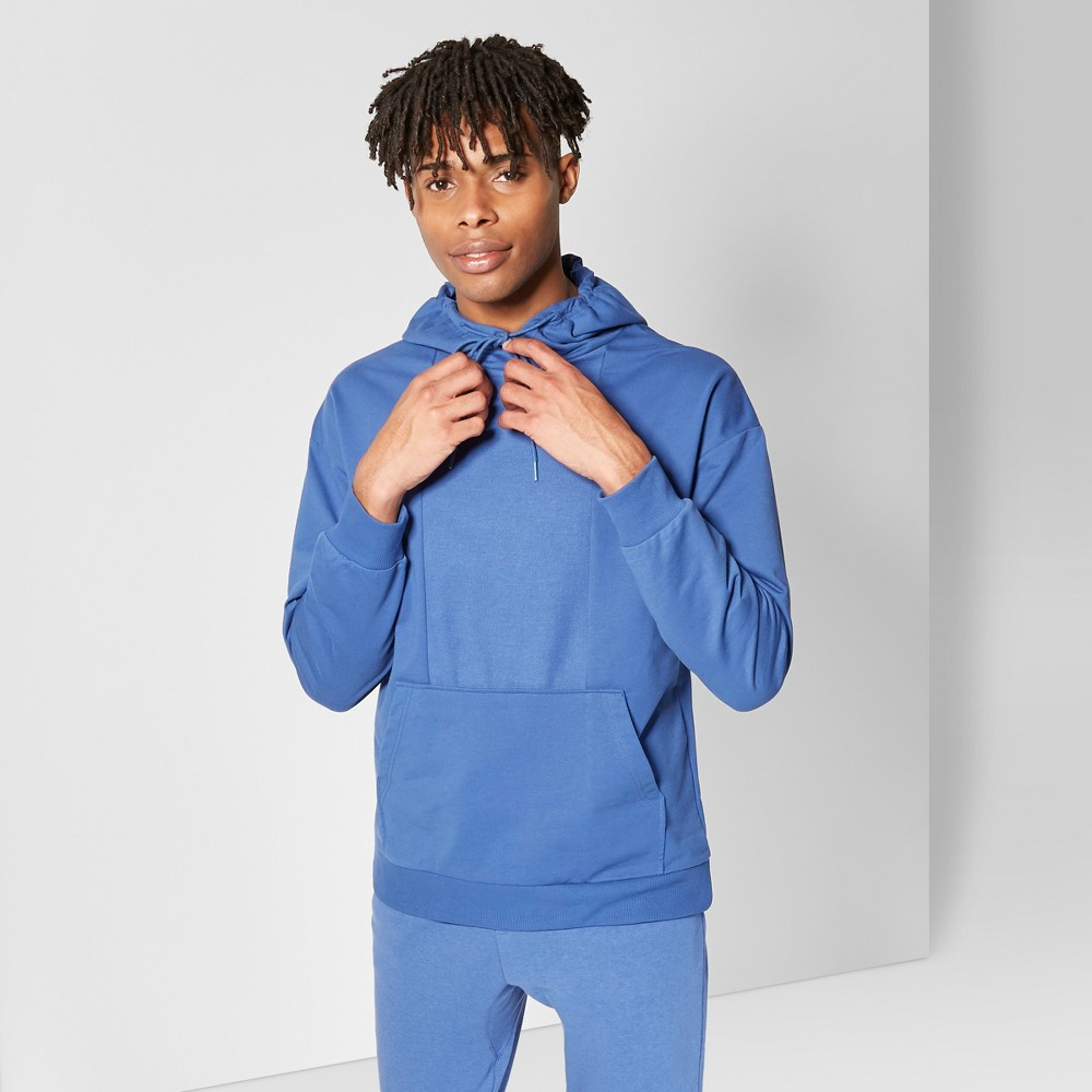 Men's Regular Fit French Terry Reverse Panel Hooded Pullover Sweatshirt - Original Use Oceanique S