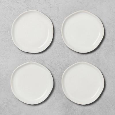 4pk Stoneware Appetizer Plate Sour Cream - Hearth & Hand™ with Magnolia