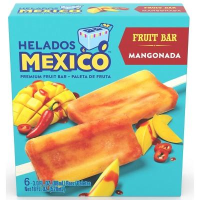 Helados Mexico Frozen Mangonada Fruit Bar -18oz/6ct