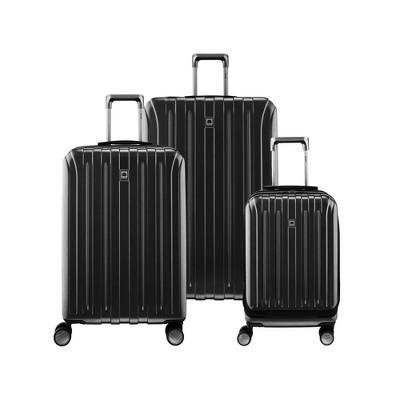 DELSEY Paris Titanium 3pc Luggage Set - Black