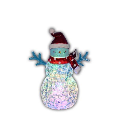 "Northlight 8.5"" LED Lighted Snowman with Santa Hat Christmas Decoration"