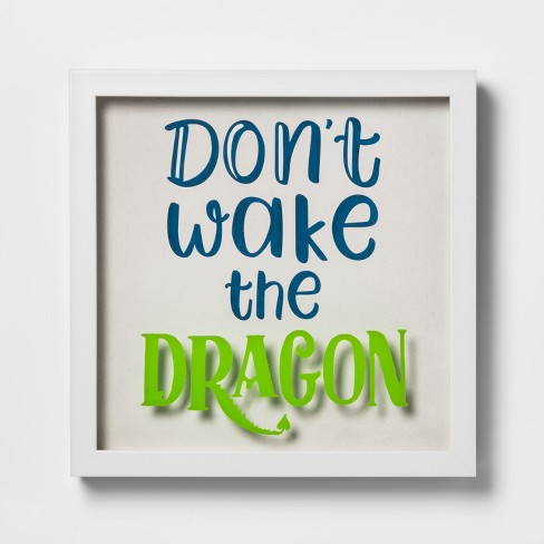 Don't Wake The Dragon Framed Wall Poster - Pillowfort™ - image 1 of 4