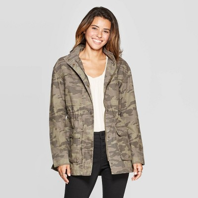 Women's Camo Print Utility Anorak Jacket   Universal Thread by Universal Thread