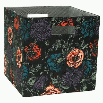 13  Cube Storage Bin Dark Floral Print - Threshold™
