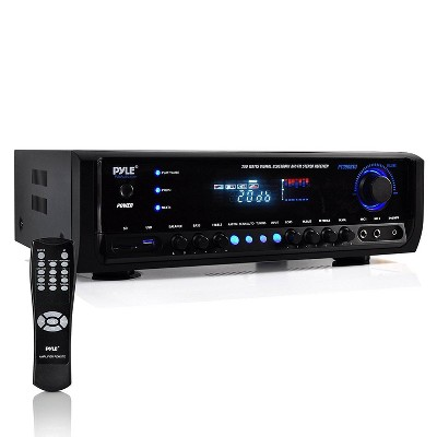 Pyle PT390BTU Digital Home Theater Bluetooth 4 Channel Radio Aux Stereo Receiver Connects to TV, Home Theaters, and External Speaker Systems