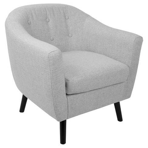 Rockwell Mid - Century Modern Chair With Noise Fabric - Light Gray -Lumisource - image 1 of 7
