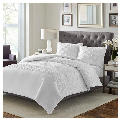 Mosaic Duvet Cover Set Full/Queen White - Stone Cottage™