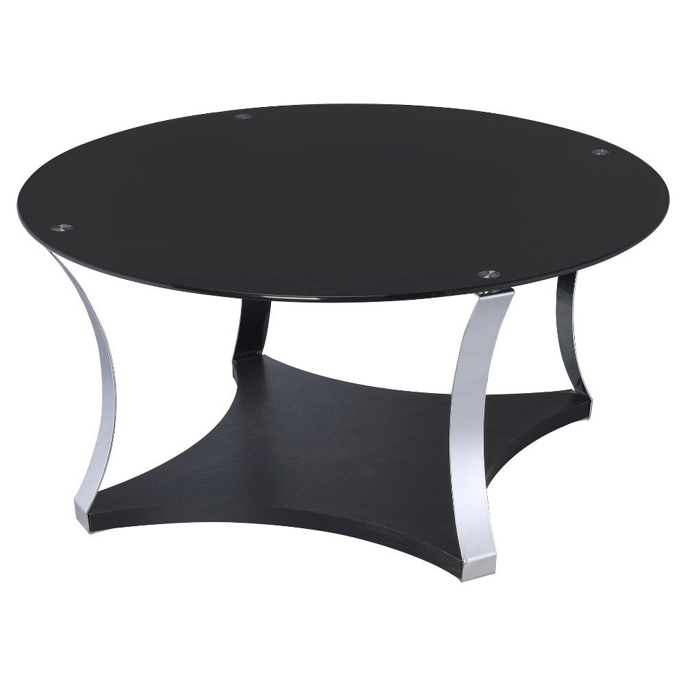 Coffee Table Black Chrome, Black & Chrome