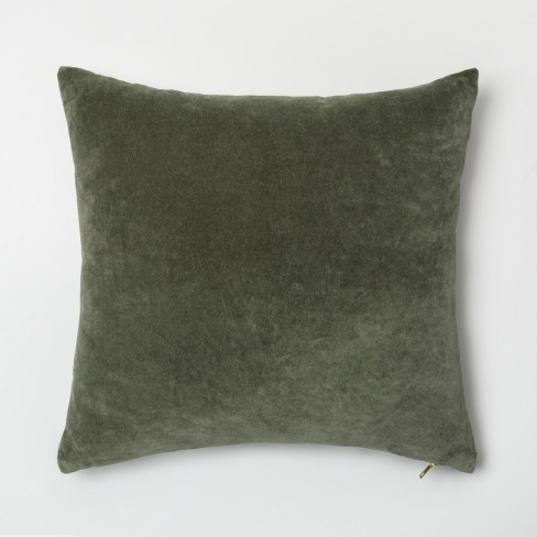 Velvet Exposed Zipper Throw Pillow - Project 62™ - image 1 of 2