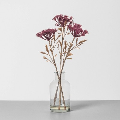 "12"" Faux Dried Achillea Arrangement Clear - Hearth & Hand™ with Magnolia"