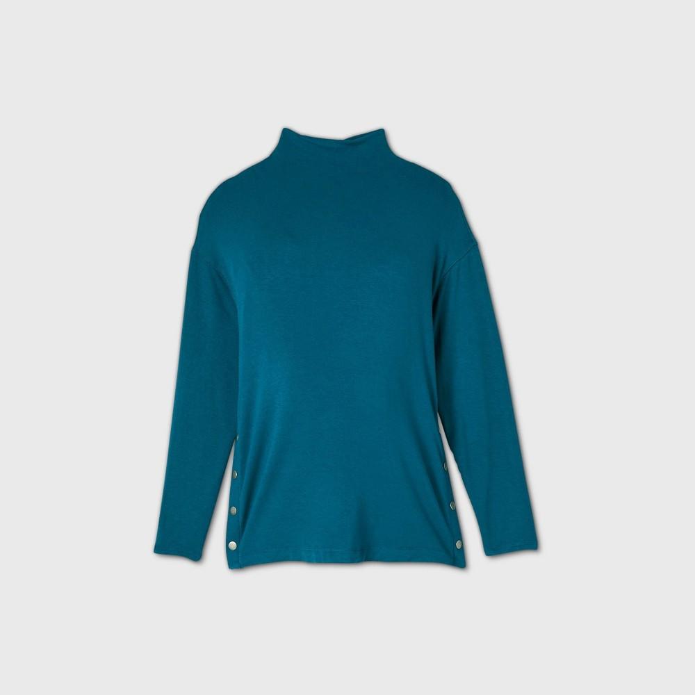 Maternity Side Snap Sweatshirt Isabel Maternity By Ingrid 38 Isabel 8482 Blue M
