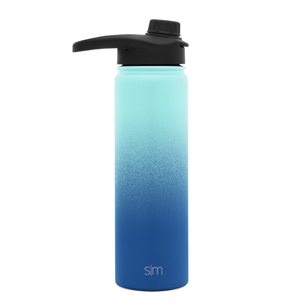 Simple Modern Summit 22oz Stainless Steel Water Bottle Ombre Turquoise/Blue