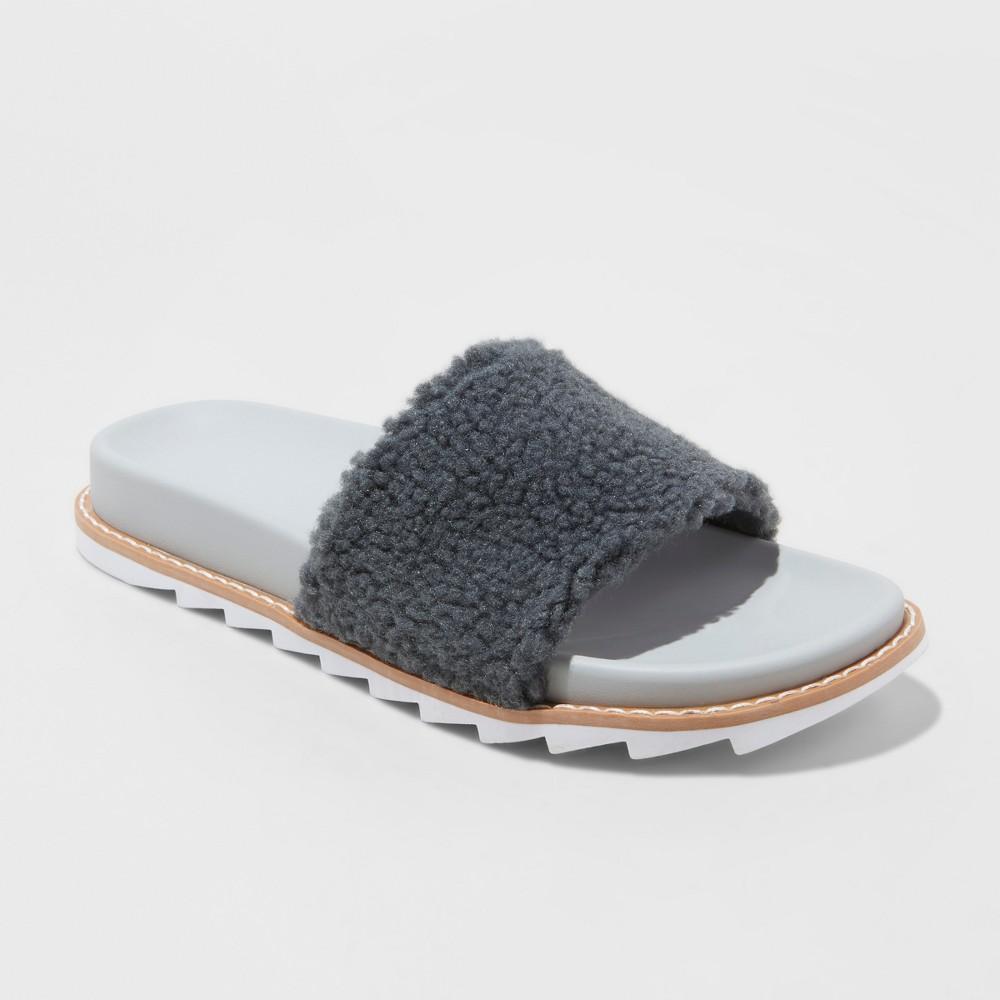 Women's Ferlet Slippers - Colsie Gray 6