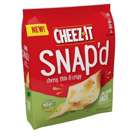 Cheez-It Snap'd Jalapeno Jack Cheesy Baked Snacks - 7.5oz - image 1 of 4