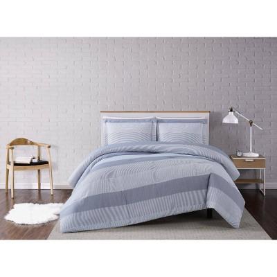 Multi Stripe Comforter Set Gray - Truly Soft