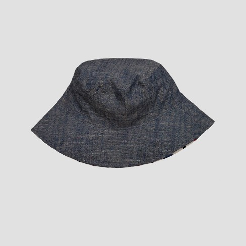 d888a0bb Toddler Boys' Chambray & Stripe Reversible Bucket Hat - Cat & Jack™ Blue  2T-5T : Target