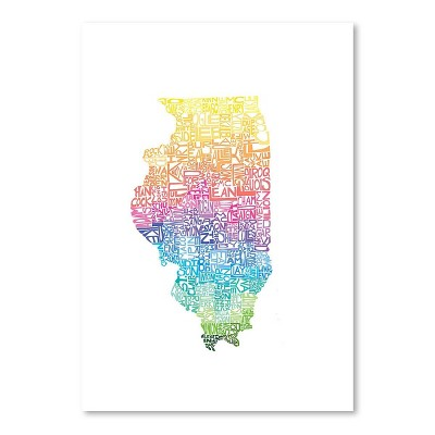 Americanflat Illinois Spring by Capow Poster