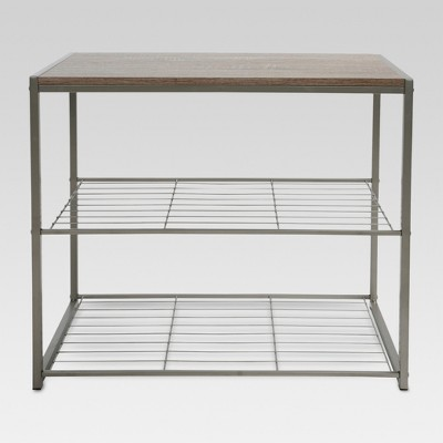 3-Tier Shoe Rack Gray - Threshold™