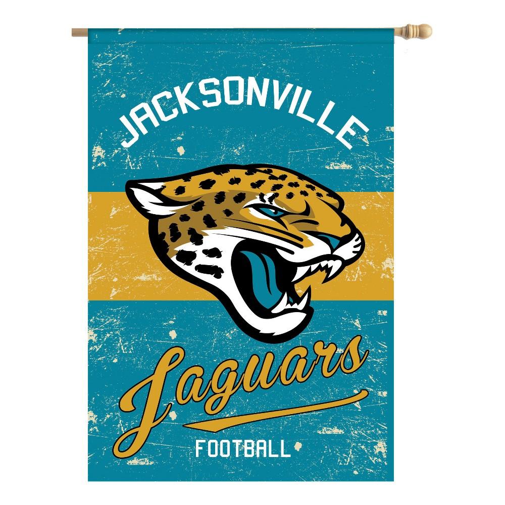Jacksonville Jaguars Vintage Linen Garden Flag