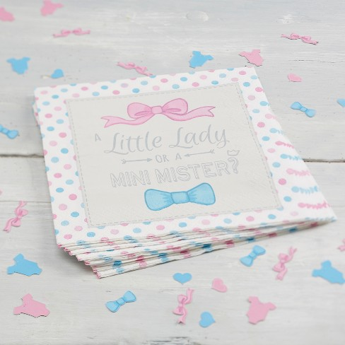 20ct Ginger Ray Paper Napkins Little Lady Or Mini Mister - image 1 of 2