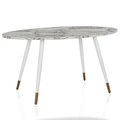 Amari Oval Faux Marble Dining Table White Cosmoliving By Cosmopolitan Target