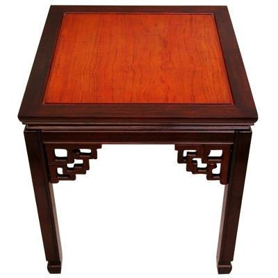 Rosewood Square Ming End Table   Oriental Furniture