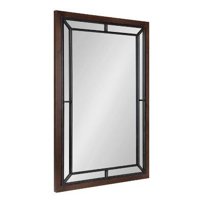 "24"" x 36"" Audubon Rectangle Wall Mirror Rustic Brown - Kate & Laurel All Things Decor"