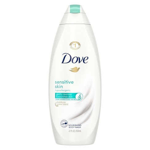Dove Sensitive Skin Unscented Sulfate Free Body Wash 22 Fl Oz Target
