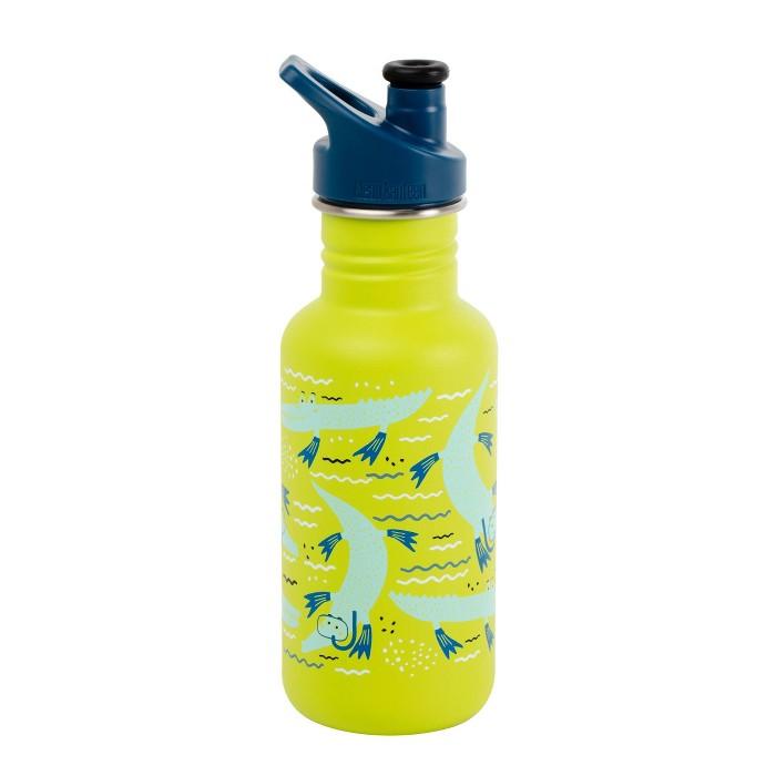 Klean Kanteen 18oz Stainless Kids Alligator Bottle - image 1 of 2
