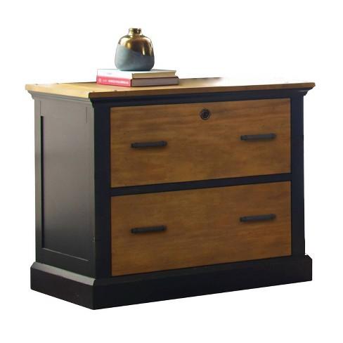 Toulouse File Cabinet Honey Black, Furniture File Cabinet