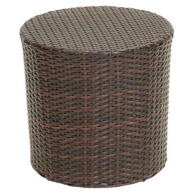 Keaton Wicker Barrel Patio Side Table - Christopher Knight Home