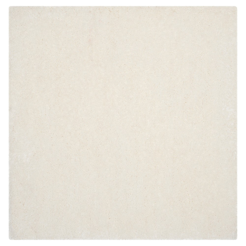 Ivory Solid Tufted Square Area Rug 6'x6' - Safavieh