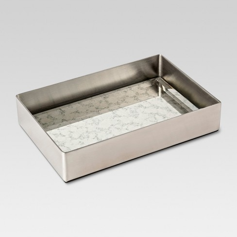 Mirror Finish Soap Dish Silver - Threshold™ - image 1 of 1