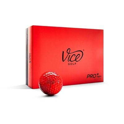 Vice Pro Plus Golf Balls - Neon Red