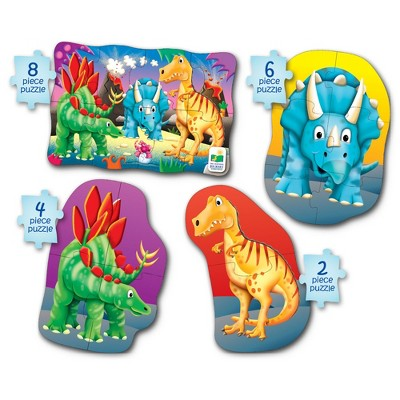 The Learning Journey My First 4-In-A-Box Puzzle Dinosaur 4 puzzles 2 to 8 pieces each