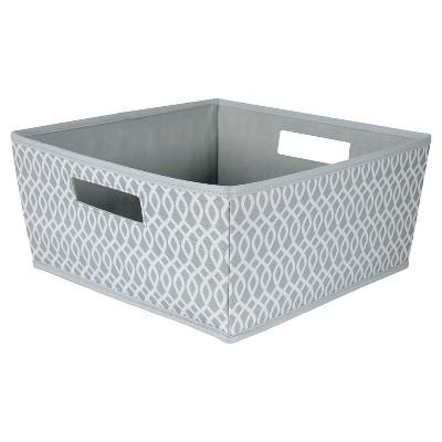 Fabric Half Bin Gray Lattice   ITSO™