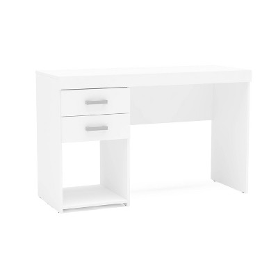 Prospect 2 Drawer Computer Desk White - Chique