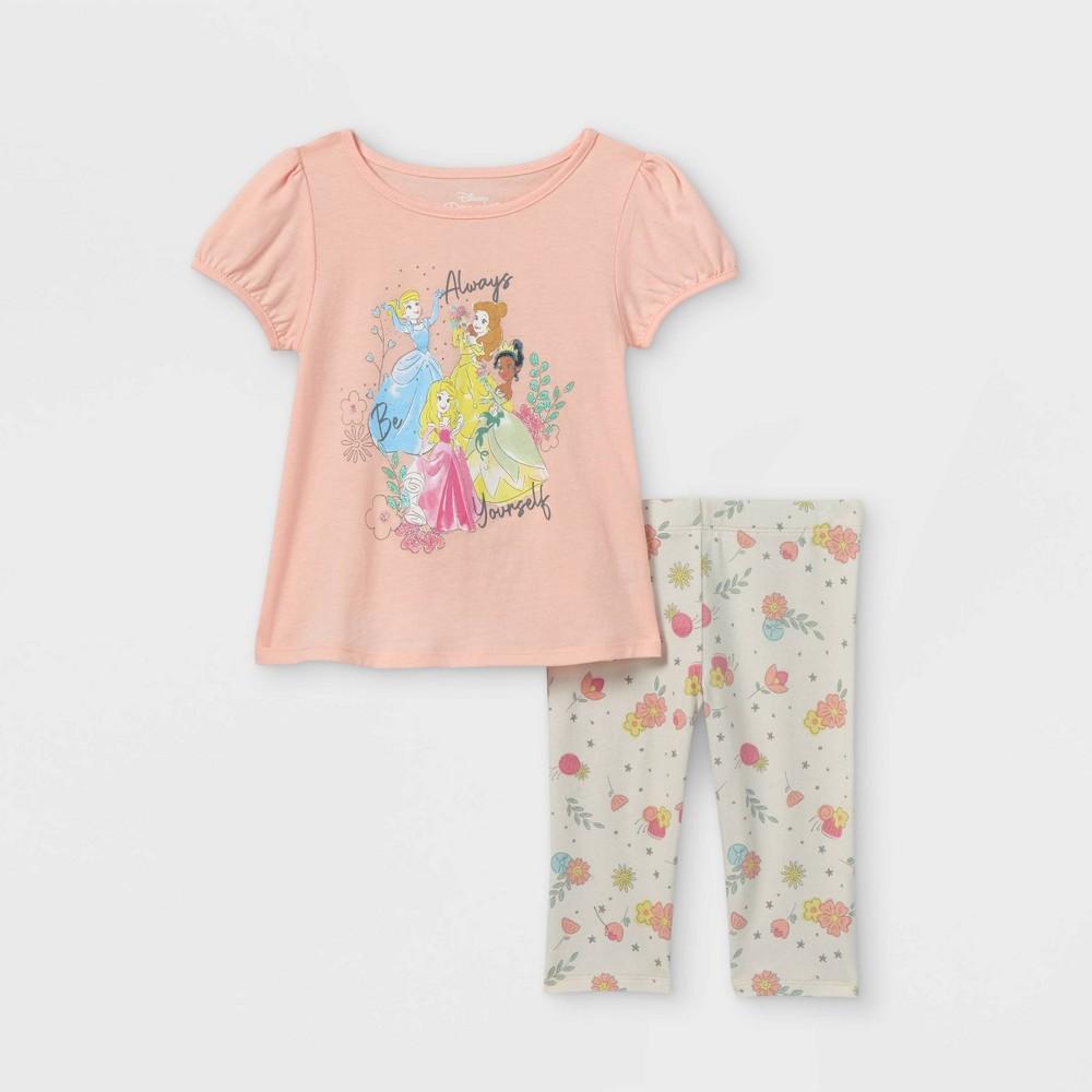 Toddler Girls 39 Disney Princess 39 Always Yourself 39 Short Sleeve Top And Bottom Set Pink 3t