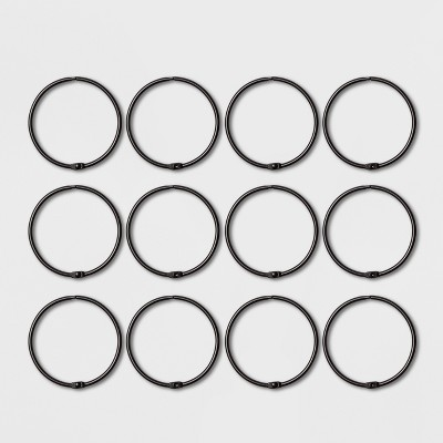 Shower Curtain Rings Matte Black - Made By Design™