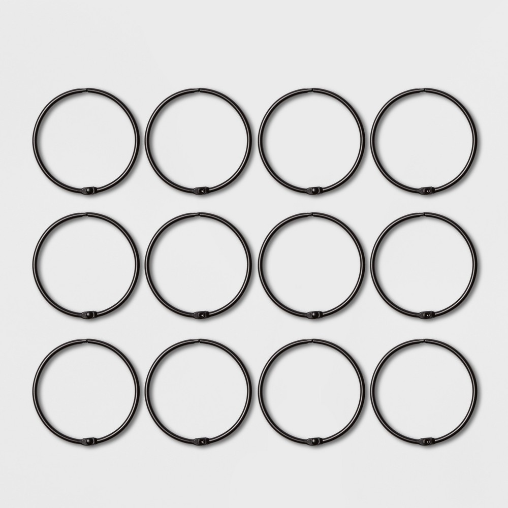 Image of Shower Curtain Rings Matte Black - Made By Design