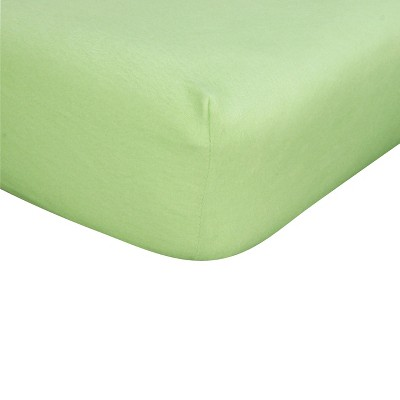 Sage Flannel Fitted Crib Sheet