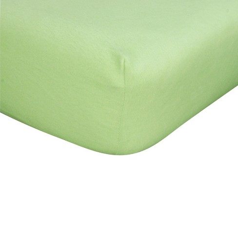 Sage Flannel Fitted Crib Sheet - image 1 of 2