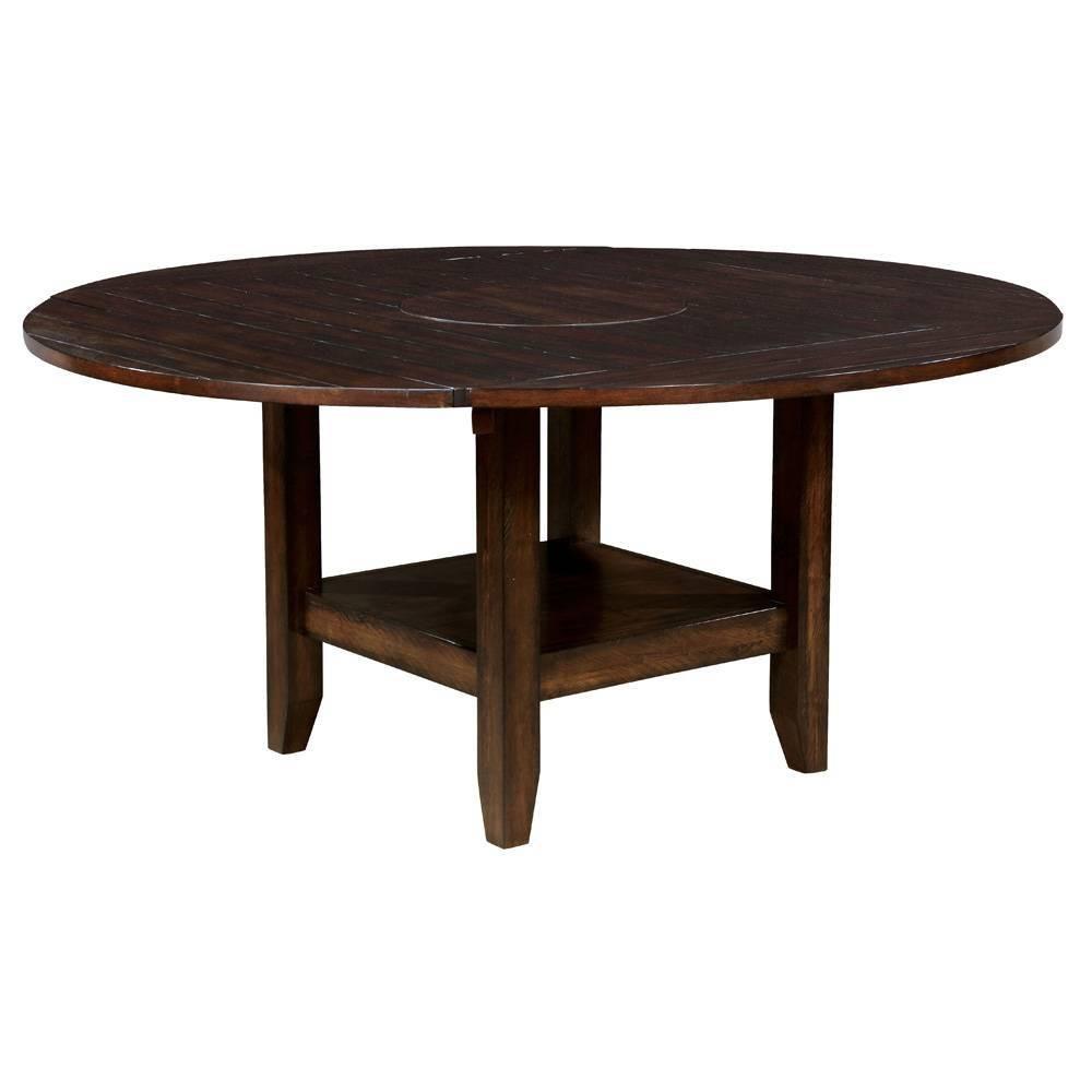 65 Drago Round Wood Dining Table Cherrywood - Sun & Pine