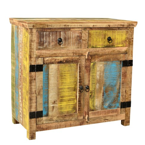 Suman Solid Mango Wood 2 Door Sideboard Natural - Timbergirl - image 1 of 4