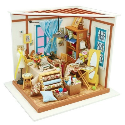 Hands Craft DIY 3D Wooden Puzzles - Miniature House: Lisa's Tailor Shop