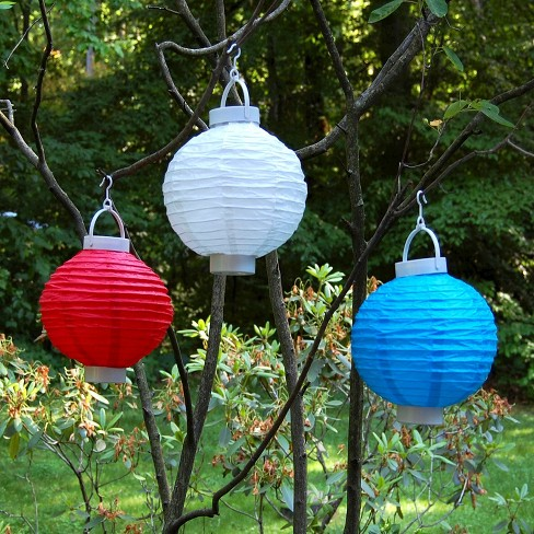 3ct White Battery Operated Paper Lantern Target