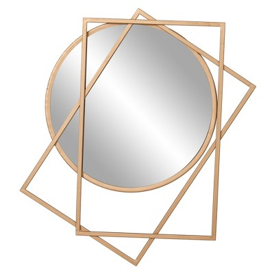 "24""x21"" Layered Wall Accent Mirror Gold - Patton Wall Decor"