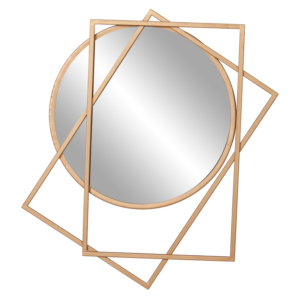 """Image of """"24""""""""x21"""""""" Layered Wall Accent Mirror Gold - Patton Wall Decor"""""""