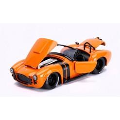 Jada Toys Big Time Muscle 1965 Shelby Cobra 427 S/C Die-Cast Vehicle 1:24 Scale Metallic Orange