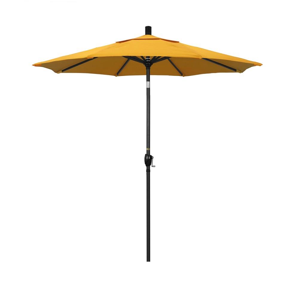 7.5' Aluminum Push Tilt Patio Umbrella - Lemon (Yellow)